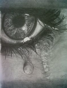 """Teardrops"" pencil drawing"