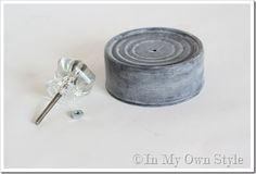 "DIY:  Faux Zinc Paint Tutorial.  This creative blogger painted an empty tuna can to look like zinc & added a knob. Now you can ""age"" those unattractive canning jar lids or create a lid for a topless jar!"