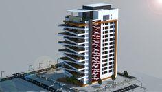 A Modern Apartment Building i made in minecraft.  Download link(schematic):http://www.minecraft-schematics.com/schematic/6090/