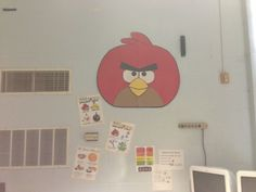 Chart paper Angry Bird for classroom