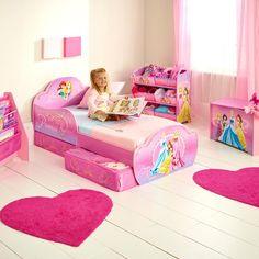 DISNEY FROZEN MDF TODDLER BED WITH STORAGE /& DELUXE MATTRESS