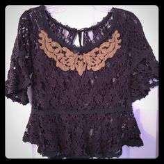 Free people lace top Worn once, perfect condition! Size small Free People Tops Blouses