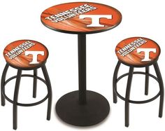 Tennessee Volunteers D2 Black Pub Table Set. Available in two table widths. Visit SportsFansPlus.com for Details.