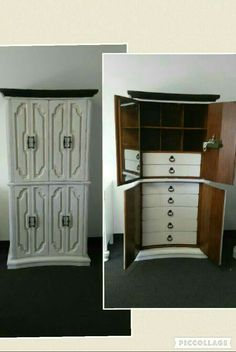 Vintage French #armoire #wardrobe #dresser #custompainting #chest #bedroom #vintagefurniture
