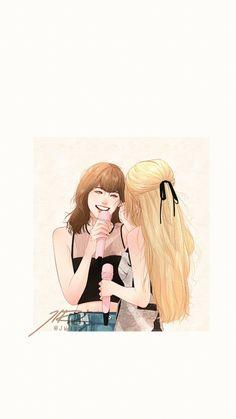 #chaelisa - Twitter Search / Twitter Cute Patterns Wallpaper, Bff Drawings, Wallpaper Iphone Disney, Kawaii Wallpaper, Blackpink Fashion, Kpop Fanart, Anime Art Girl, Girl Cartoon, Cute Art