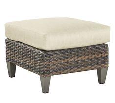 Abrego All-Weather Wicker Ottoman