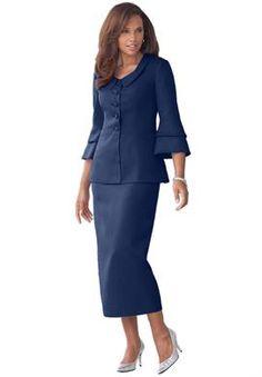 Vow Renewal Idea On Pinterest Skirt Suit Plus Size