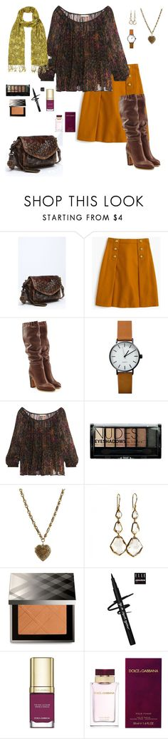 """fall fashion"" by karen-powell ❤ liked on Polyvore featuring Frye, J.Crew, See by Chloé, Mes Demoiselles..., Boohoo, Etro, Ippolita, Burberry, Dolce&Gabbana and White Stuff"
