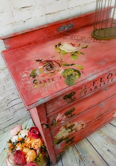 "Receive wonderful suggestions on ""shabby chic furniture bedroom""x. They are offered for you on our website. Decoupage Furniture, Chalk Paint Furniture, Hand Painted Furniture, Funky Furniture, Refurbished Furniture, Colorful Furniture, Repurposed Furniture, Shabby Chic Furniture, Furniture Projects"