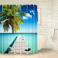 Foog Wooden Bridge Sea Shower Curtains Green Tree Summer ... https://www.amazon.com/dp/B01N2VWM34/ref=cm_sw_r_pi_dp_x_Rsswyb42JTDHB