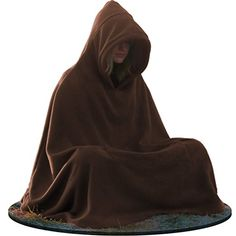 Meditation Cloak - Hooded Coat - Unisex Women's Men's Yoga Buddhist Relaxation (Medium, Brown). It is an Amazon affiliate link.