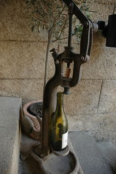 Traditional Wine Bottling Device by marcosborn