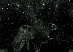 Animated gif uploaded by Aesthetic girl. Find images and videos about love, gif and stars on We Heart It - the app to get lost in what you love. Art Tumblr, A Court Of Mist And Fury, Art Abstrait, Illustration Art, Landscape Illustration, Art Illustrations, Stars, Artwork, Painting