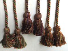 Set of 3 Single Rope Tassel Tiebacks Drapery by eclectic2violet