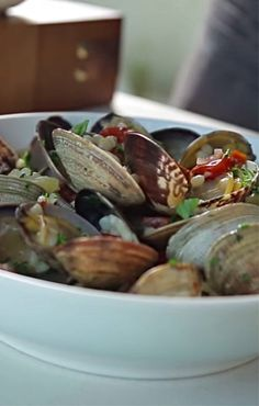 Hot off the Grill: Steamed Clams with Chorizo and Couscous. Click for the recipe!