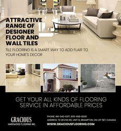 Are you looking for durable, attractive range of designer #FloorTiles & #WallTilesinBrampton then visit to Gracious Hardwood Flooring Inc. today located @ 72 Devon Rd, Unit 12, Brampton, ON L6T 5E7, Canada Ph: 416-540-8317, 905-458-8000  #FloorTilesinBrampton #TilesinBrampton #Tiles #TileStoresBrampton #TileStore #FloorTilesforKitchen #FloorTilesOutdoor #TileFlooring #TilesFloors #TilesforFlooring #TilingforFloors #FloorTiling #FloorTilesWithPrice #FloorTilesPrice #WallTiles… Discount Tile, Tiles Price, Hardwood Floors, Flooring, Tile Stores, Kitchen Wall Tiles, Marble Tiles, Ceiling Tiles, Tile Floor