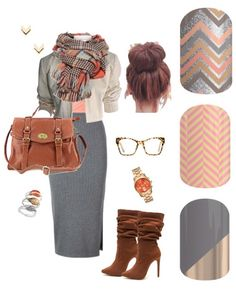 I love this professional look. Gray and pink look so good together!  sammiesjammies.jamberry.com