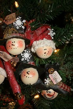 Snowman ornaments~ tutorial
