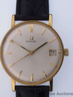 Vintage Mens Omega 17J 610 Date Working Wrist Watch #Omega #Dress