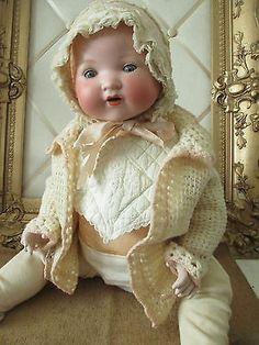 Antique German Bisque Baby Doll *MY DREAM BABY* 23 inch Armand Marsielle #351