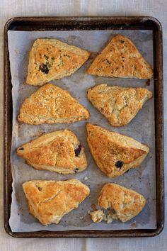 Savory Scones |   A hybrid between traditional sweet scones and salty, buttery biscuits, this all-purpose dough is ideal for all sorts of savory fillings. From gruyere, onions, and mushrooms to gouda and blueberries, any one of these four variations are great to take on the go as an all-in-one breakfast. |   From: saveur.com White Cheddar & Apple-aab