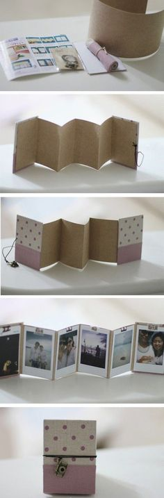 Create a mini photo album! DIY.