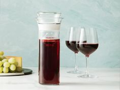 Wine Saver Carafe by Savino | The Grommet® Wine Bottle Design, Wine Design, Wine Carafe, Wine Chiller, Digging Tools, Night After Night, Cocktail Making, Fun Cocktails, Sparkling Wine