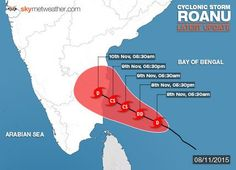 Cyclone ROANU - Heavy rainfall predicted across #Odisha #Cyclone #Roanu