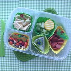 Bugging Out Bento in our @easylunchboxes!  DIY mini lunchable with mini club crackers, mini pepperoni, laughing cow cheese, cucumbers & ranch, and trail mix