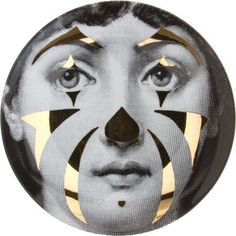 Fornasetti Theme & Variation Plate love the plates with gold in them xxbelladonnaxx Italian Painters, Italian Artist, Piero Fornasetti, Fornasetti Wallpaper, Art Deco, Clown Makeup, China Art, Photomontage, Constructivism