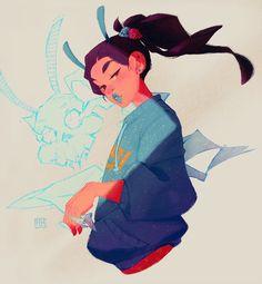 Geisha for Character Design Challenge! on Behance Female Character Design, Character Design References, Character Drawing, Character Design Inspiration, Character Illustration, Character Concept, Concept Art, Illustration Art, Geisha