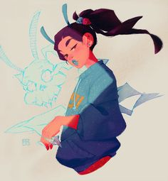 https://www.behance.net/gallery/41301903/Geisha-for-Character-Design-Challenge