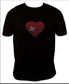 healing heart, LPN, RN Occupation heart rhinestones shirt, medic, EMT - pinned by pin4etsy.com