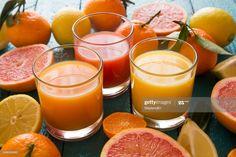 Stock Photo : Glasses of orange juice, grapefruit juice and multivitamine juice Grapefruit Juice, Orange Juice, Moscow Mule Mugs, Forests, Stock Photos, Mountains, Glasses, Image, Eyewear