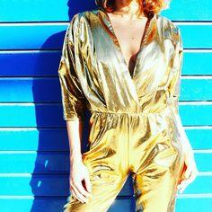 Bianca Gold jumpsuit  - - - - - #picoftheday #fashion #fashionstyle #gold #love #women #power #light #top #losangeles #jumpsuit #outfit #beauty #design