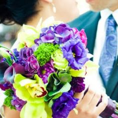 Blue/purple /green wedding ;) I love this color combo; I would add lace
