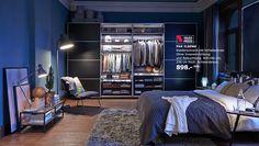 Inspiration fürs Schlafzimmer, hier mit PAX ILSENG Kleiderschrank mit Schiebetüren  Love It!!!!