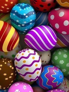 Coloridos estampados para huevos de pascua, actividades pascua niños