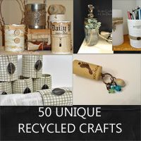 50 recycled craft projects: Rustic Crafts & Chic Decor
