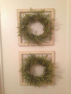 Wreaths and chicken wire