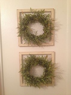 Wreaths and chicken wire
