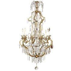 Baccarat Chandelier | From a unique collection of antique and modern chandeliers and pendants at https://www.1stdibs.com/furniture/lighting/chandeliers-pendant-lights/
