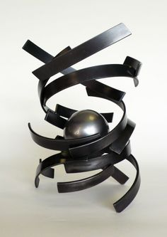Steel Organic/Abstract sculpture by artist Philip Melling titled: 'Djinn III' #sculpture #art
