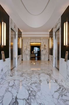 love the marble...  luxury master bathroom shower remodeling ideas white marble | Marble Interior Design
