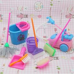 Play House Doll Furniture Doll Household Cleaning Tools For Barbie dolls in Dolls & Bears, Dolls, Barbie Contemporary Structures & Furniture Barbie Doll Set, Barbie Doll House, Girl Barbie, Baby Barbie, Baby Doll Toys, Cleaning Toys, Cleaning Hacks, Furniture Cleaning, Cleaning Supplies