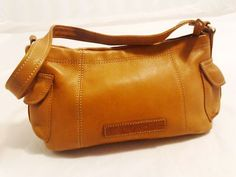 Fossil Leather Shoulder Bag Purse Hobo in Medium Brown Tan