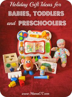 Find toys that will encourage kids' development with this list of 30+ gift ideas for babies, toddlers, and preschoolers!