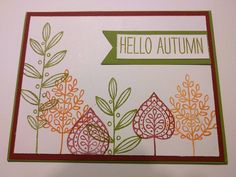 Stampin' Up Lighthearted Leaves