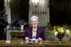 H.M. Dronningen i Havesalen, Fredensborg Slot, kort efter nytårstalen. Læs nytårstalen 2014.
