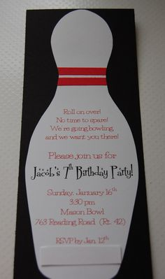Bowling Birthday Party Invitation  ItS My Party  ILl Party If